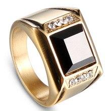 Ювелирные аксессуары Jing Jiang, модная палка, черное циркониевое кольцо, персональные панк-мне кольца из нержавеющей стали, подарки для мужчин