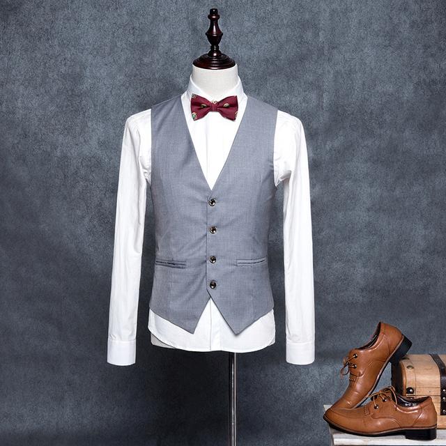 M-4XL Alta Qualidade Coletes Blazer Formal dos homens Slim Fit Negócios Vestido De Terno Sem Mangas Colete Jaqueta Colete colete MQ432 social