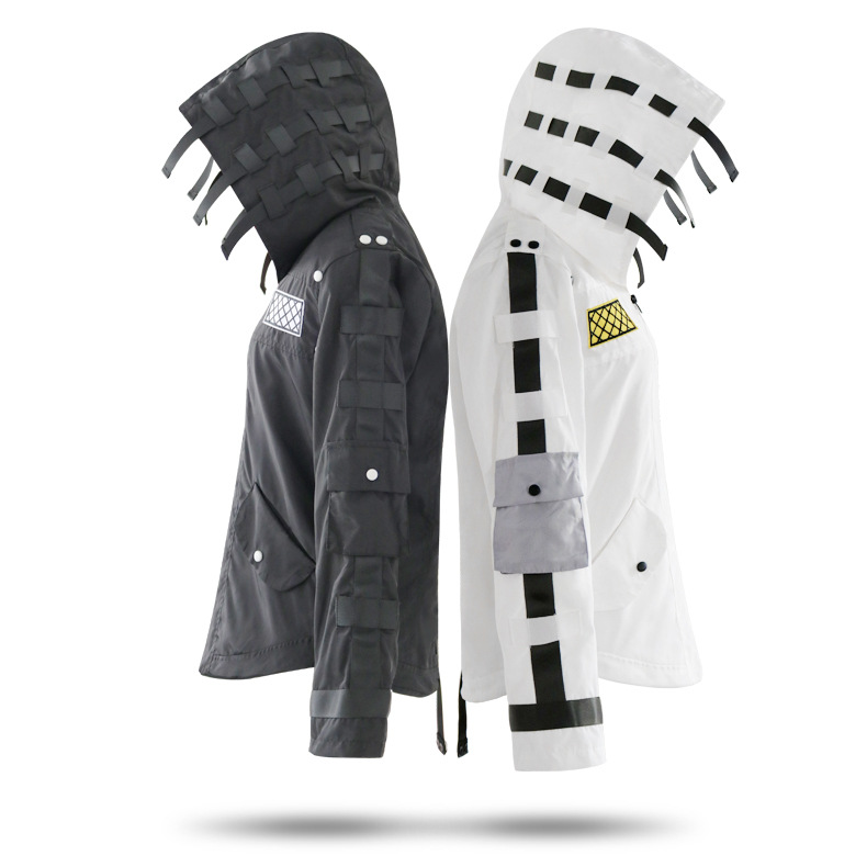 Jedi Survival Cosplay Chicken Suit Black Hooded Jacket Jacket Game Animated Costumes
