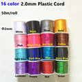 50 meters/lot  2.0mm Nylon Satin Cord for DIY Silicone Baby Chewing Teething beads necklace teether chain Jewelry