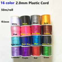 ( 4 color )  50 meters/lot  2mm Nylon Satin Cord  for DIY Silicone Baby Teething beaded necklace tyry hu 10m soft satin nylon multicolor cord solid rope for jewelry making beading cotton cord for baby 2mm diy necklace pendant