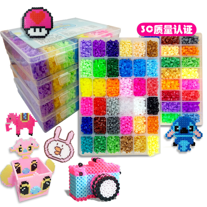 5mm Hama beads 24/48 Colors perler Toy Fuse Bead for kids DIY handmaking 3D puzzle Educational Kids Toys Shipping(China)