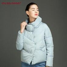 CHUSAUBEAUTY 2017 Winter Fashion Women Jackets Short Design Cute Cotton Padded Coats Causual Warm Hoodies Loose Padded Parkas