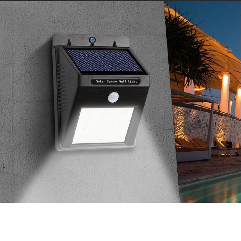 LED Solar Light Human Body Induction Lead Wall Lamp Waterproof Outdoor Home Garden Street Viewing Yard Lighting