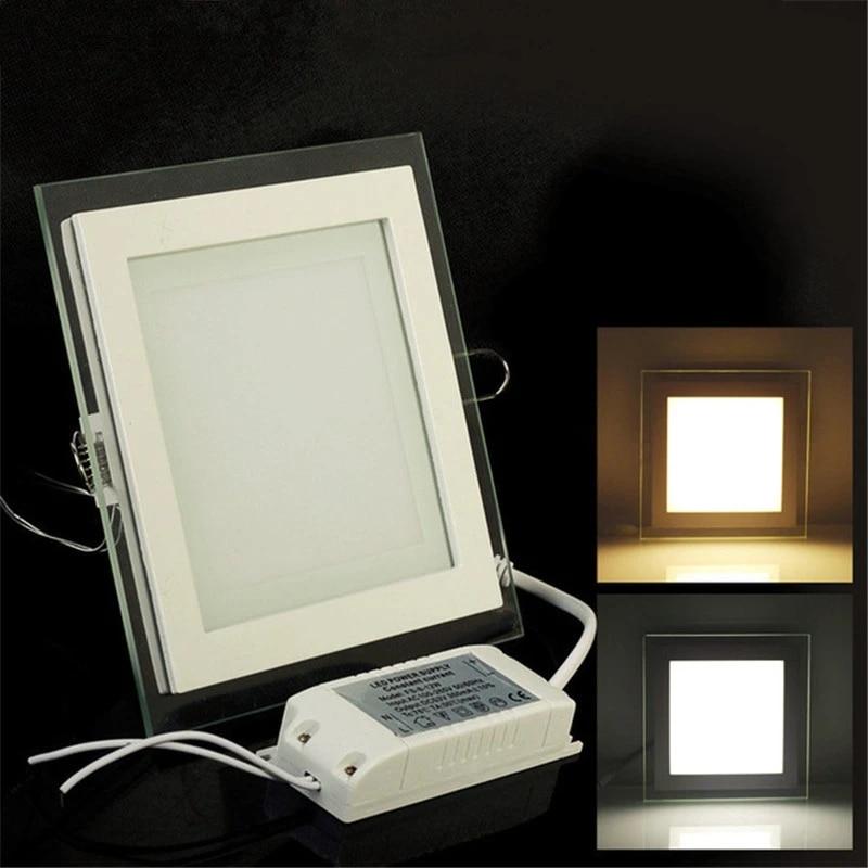 6w 9w 12w 18w 24w led panel light recessed lighting ceiling downlight 3 color change 6000k 3000k 4000k led indoor lighting lamp