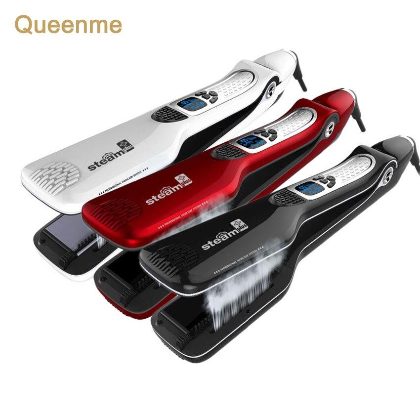 Queenme Электрический паровой выпрямитель для волос щетки профессиональные и персонализированные steampod-выпрямитель для волос гребень быстрой ...