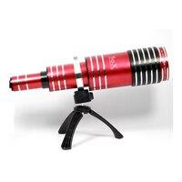 Universal Clip Super Aluminum 80X Optical Zoom Telescope Telephoto Camera Phone Lens Lenses for iPhone XS XS Max XR