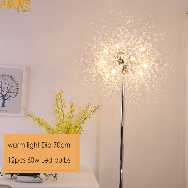NANS New Modern Crystal Stand Floor Lamps Simple Warm Led Floor Lamp For  Living Room Folding