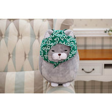 30/40cm Big face cat Cloth Doll pussy cat plush toy children Fat cat doll animals birthday gift For Children Kids Toys(China)