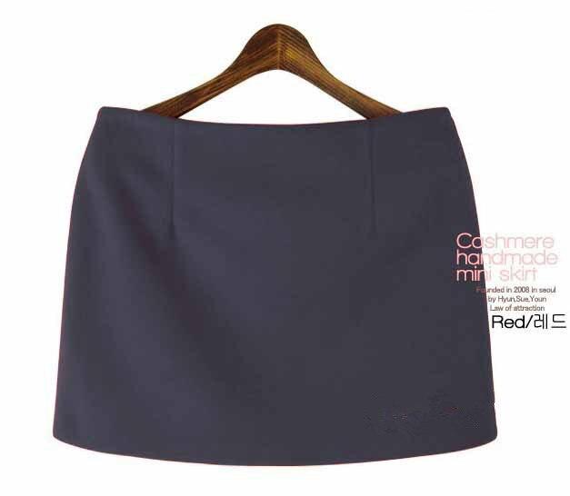 Moda Payız Qış Mini Etekləri 2016 Qadın Qatı İncə A-Xətti - Qadın geyimi - Fotoqrafiya 5