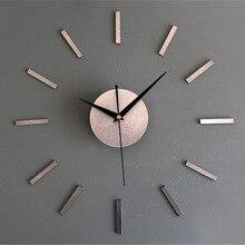 modern minimalist 3d needle quartz wall clocks living room