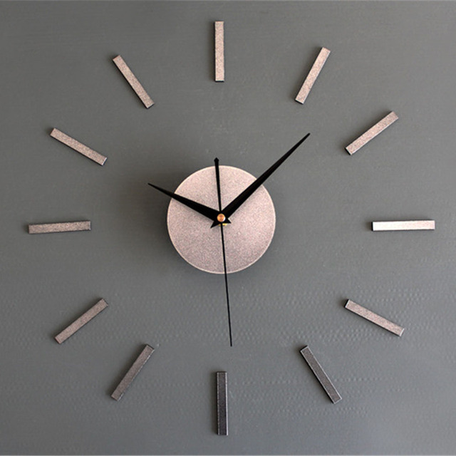 Modern Minimalist Wall Clock Fashion 3d Large Size Vogue