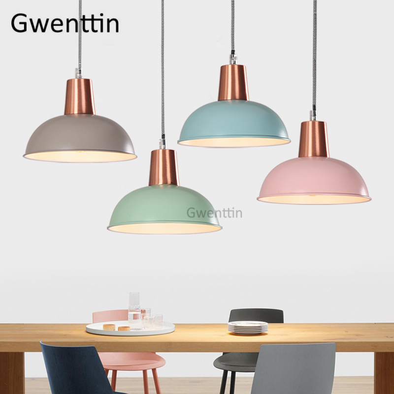 Nordic Iron Pendant Light Fixtures Modern Led Hanging Lamp for Dining Room Bedroom Kitchen Suspension Luminaire Home Loft DecorNordic Iron Pendant Light Fixtures Modern Led Hanging Lamp for Dining Room Bedroom Kitchen Suspension Luminaire Home Loft Decor