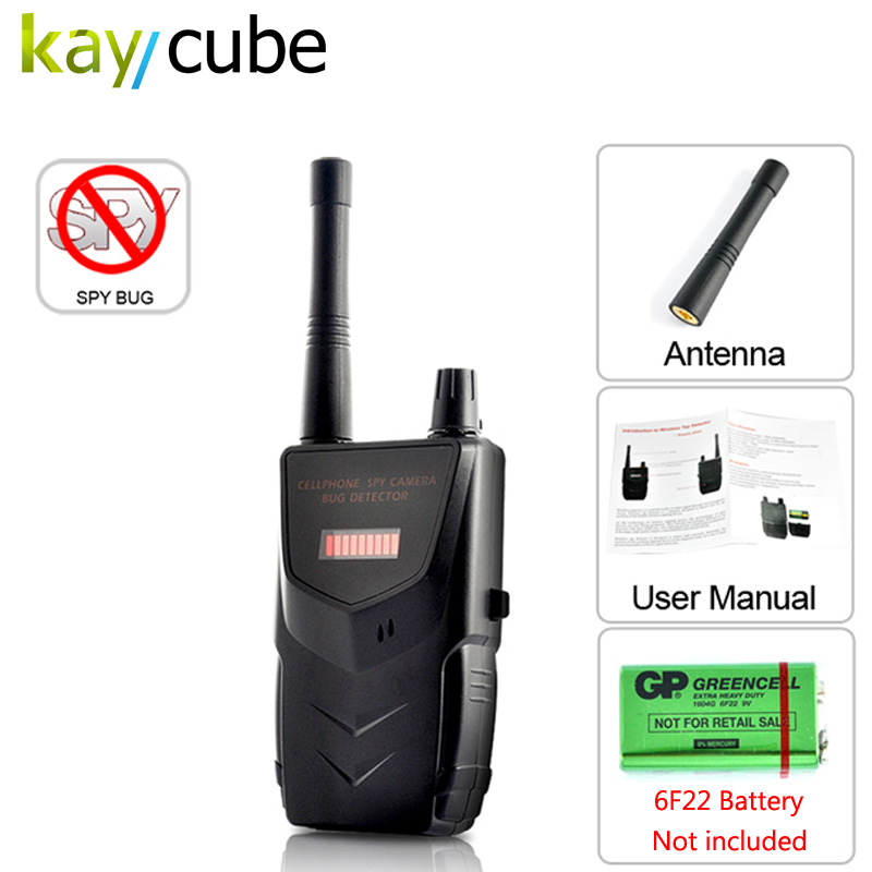 TG-007B Portable Wireless Tap detector RF Signal Bug Wireless Camera Detector Detect WiFi Audio Cell Phone