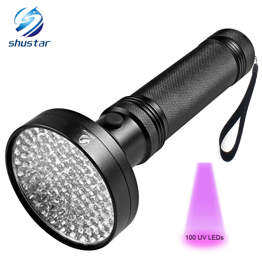 UV Flashlight 100 LEDs 395 Nm UV Detector Light For Dog Cat Urine, Pet Stains, Bed Bugs, Scorpions, Machinery Leaks Inspection