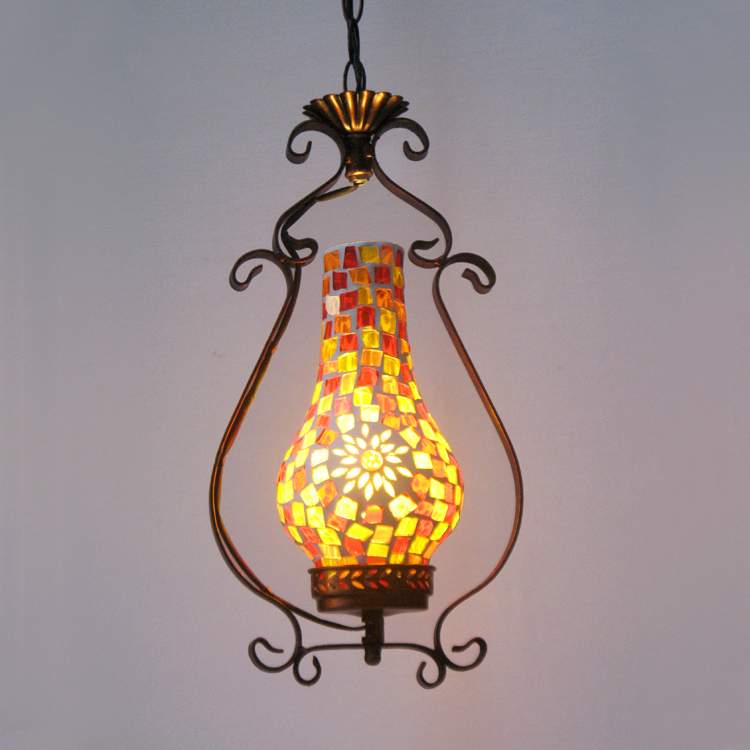 Chinese style retro kerosene lantern Inn shops mosaic glass lamp disorderly tablets and flower pendant lamp холодильник beko ds325000s