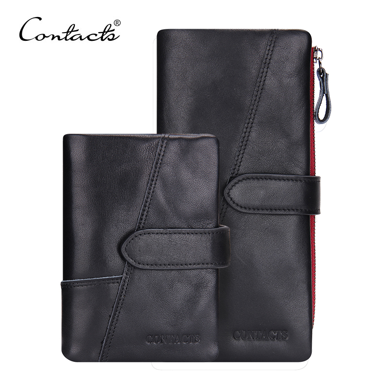 CONTACT'S Genuine Leather Classical European and American Men Wallets Wallet Fashion Purse Card Holder Wallet Man Coin Pocket new classical vintage style men wallets genuine leather wallet fashion brand purse card holder wallet man coin bag coffee