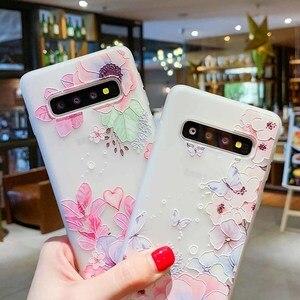 Image 2 - Case For Samsung Galaxy S10 Plus A30 A50 M10 M20 A7 A8 A6 J4 J6 EU Edition 2018 S8 S9 S10 J3 J5 J7 A3 A5 A7 2017 Flower Cases