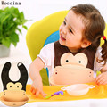 1PC Cartoon Animals Silicone Baby Bibs Girl Boy Kid Newborn Waterproof Silicone Bandana Bib Saliva Towel Scarf Bib Meals Pocket