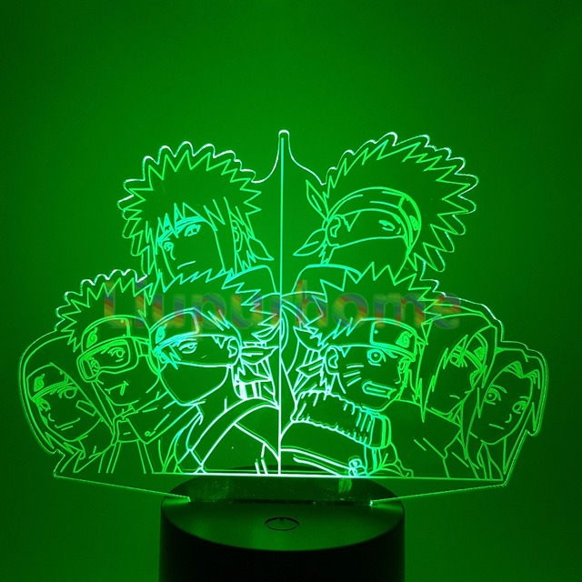 Naruto Team 7 LED Nightlight 3D Table Lamp