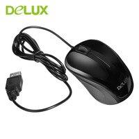 Delux Optyczna, Przewodowa Mysz M135 Szybkiego Kliknięcia Myszy USB Mysz Jasna Powierzchnia Standardowy Komputer PC Uniwersalne Dla Biura Użytku domowego
