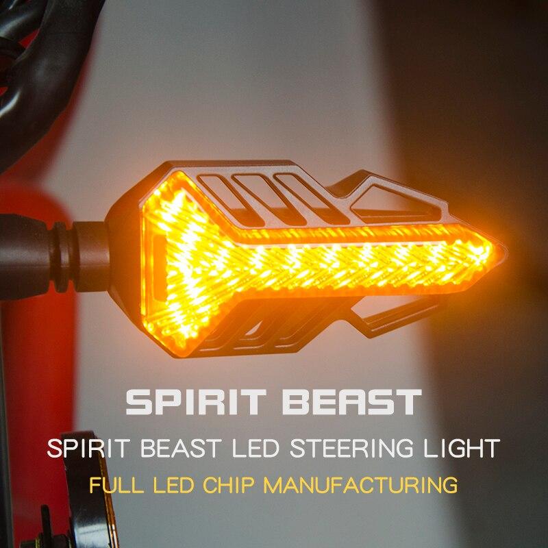 US $17 9  LED turn signal spirit beast motor highlight 12V signal light  assembly CB190 motorcycle lamp decoration universal free shipping on