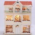 Handmade Doll House Furniture Miniatura Diy Doll Houses Miniature Dollhouse Wooden Toys For Children Grownups Birthday Gift 3812