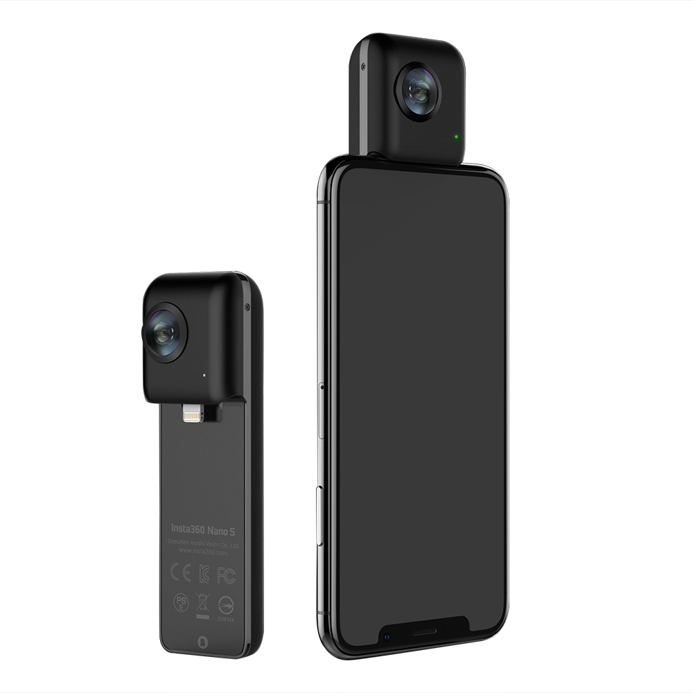In stock Insta360 Nano S 4K 20MP 360VR Video Camera with Panoramic Livestream Video Chat MultiView for iPhone X/8/8 plus/7/7plus