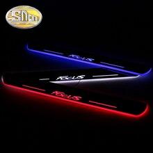 SNCN Pedal de placa de desgaste para Ford Focus 2 3 4 MK2 MK3 MK4, LED dinámico acrílico ultrafino, 4 Uds. Alféizar de puerta LED de coche