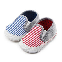Fashion Soft Sole Baby Shoes Toddler Stripe Casual First wal