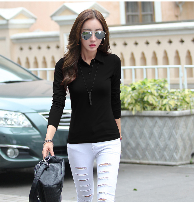 10 long sleeve polo shirts women