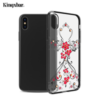 KINGXBAR Original Capa For IPhone X Ten Cover Crystals Electroplated PC Case From Swarovski Rhinestone Plated