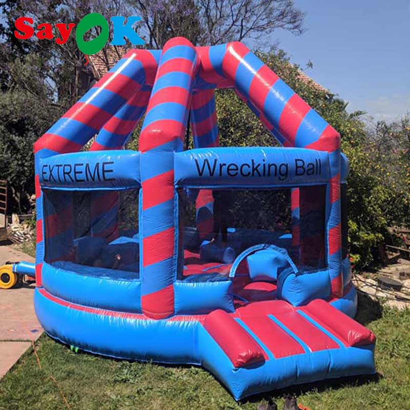 Inflatable Wrecking Ball Boxing Game Inflatable Bouncer Team Sports Playing Game with Blower For Event/Commercial/Party