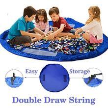 Портативный детские игрушки сумка для хранения и игровой коврик Lego игрушки Организатор бен Box XL модные Практичные мешки для хранения