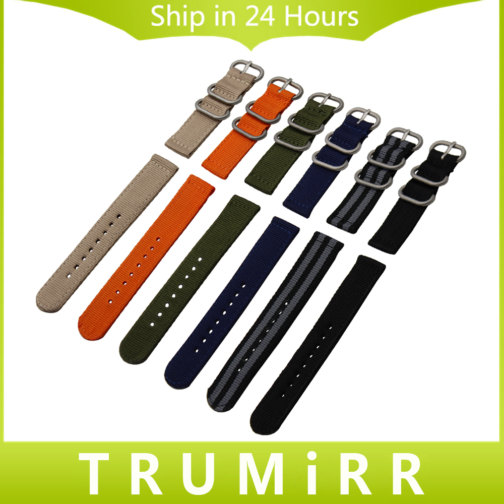 Genuine Nylon Watchband 18mm 20mm 22mm 24mm Universal Watch Band Zulu Strap Sport Fabric Wrist Bracelet Black Blue Brown Orange 24mm nylon watchband for suunto traverse watch band zulu strap fabric wrist belt bracelet black blue brown tool spring bars