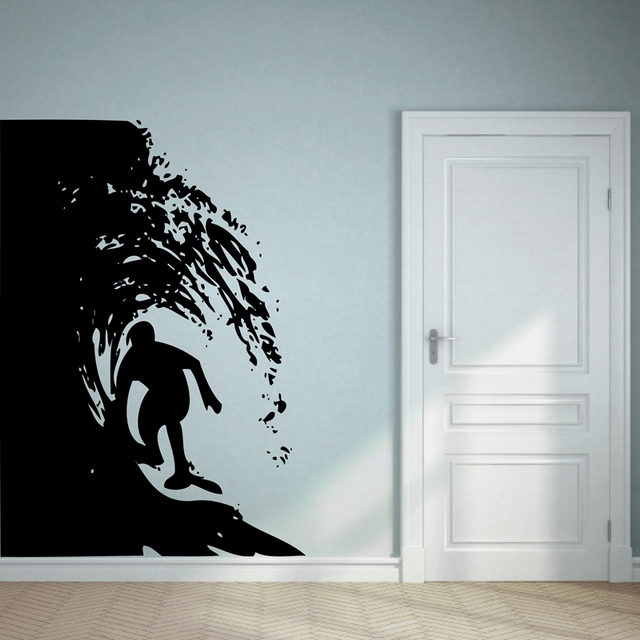 Aliexpress.com : Buy Free Shipping large size surfing wall art ...