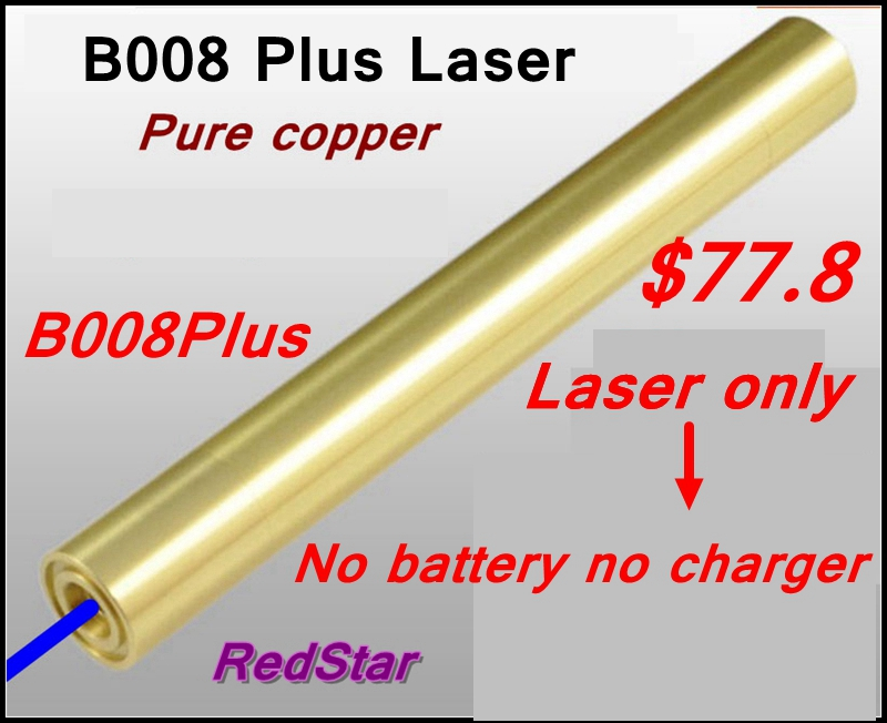 [ReadStar]B008Plus blue Laser pointer laser pen high burn match pure copper laser only without 16340 battery & charger