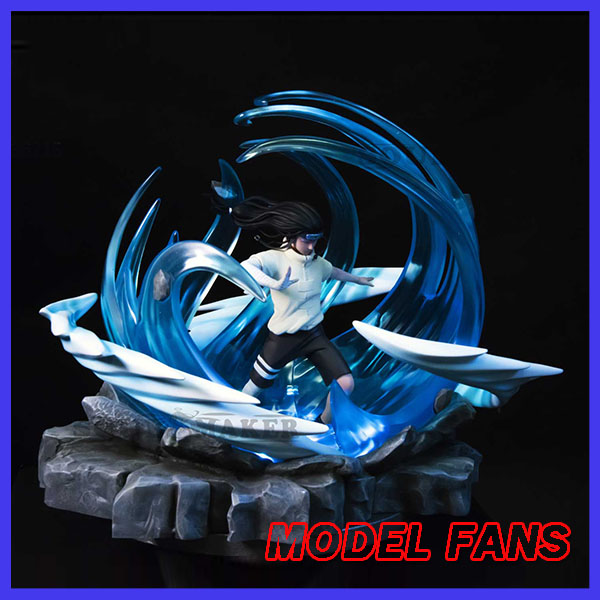 цена на MODEL FANS IN-STOCK 32cm NARUTO Hyuga Neji GK resin statue contain led light figure for Collection