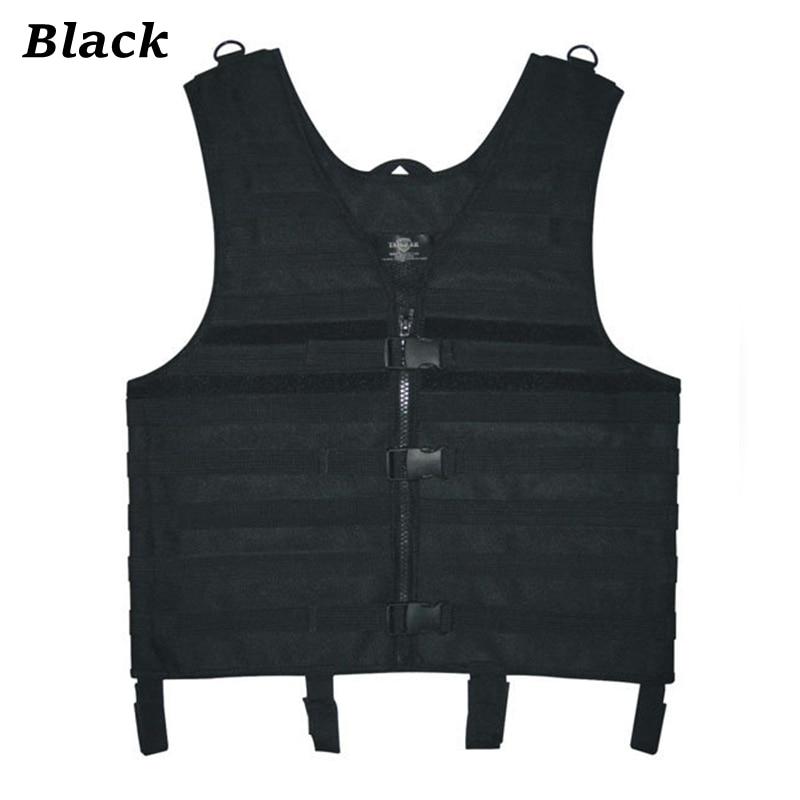Adjustable Camouflage Nylon Tactical Vest Multi Use Molle Vest For Hunting CS War Game ACU