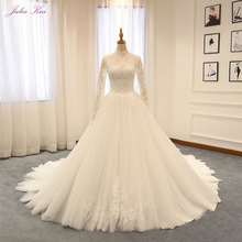 JULIA KUI Ball Gown Wedding Dress With Long Sleeves