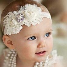 Повязка на голову для маленькой девочки Детские аксессуары для волос с цветочным рисунком для новорожденных Головные уборы головной убор повязка для волос Группа повязка на голову в подарок для детей ясельного возраста бантом одежда