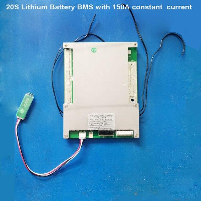 72 فولت 20S بطارية أيون الليثيوم الذكية لوحة دارات مطبوعة 84 فولت بلوتوث BMS أو 60 فولت Lifepo4 PCB مع UART الاتصالات مع 150A الحالي