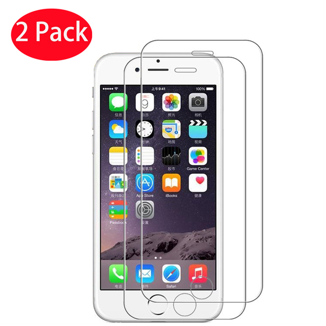 2 PCS 화면 보호기 강화 유리 아이폰 X XS 최대 XR 8 7 6 6s 플러스 전화 보호 유리 아이폰 5 5s SE 4 4s 유리