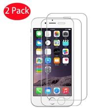 2 pçs protetor de tela vidro temperado para iphone x xs max xr 8 7 6s mais telefone vidro protetor para iphone 5 5S se 4 4S vidro