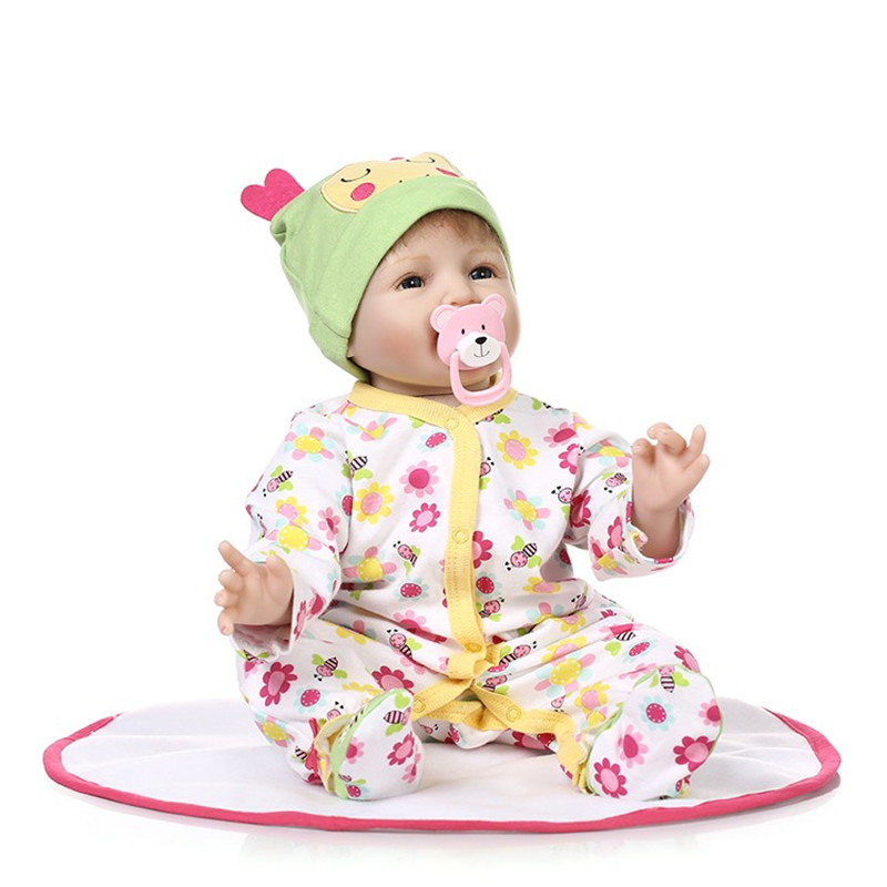 ⑦Lindo silicona reborn Baby Dolls lifelike acompañar dormir niño ...