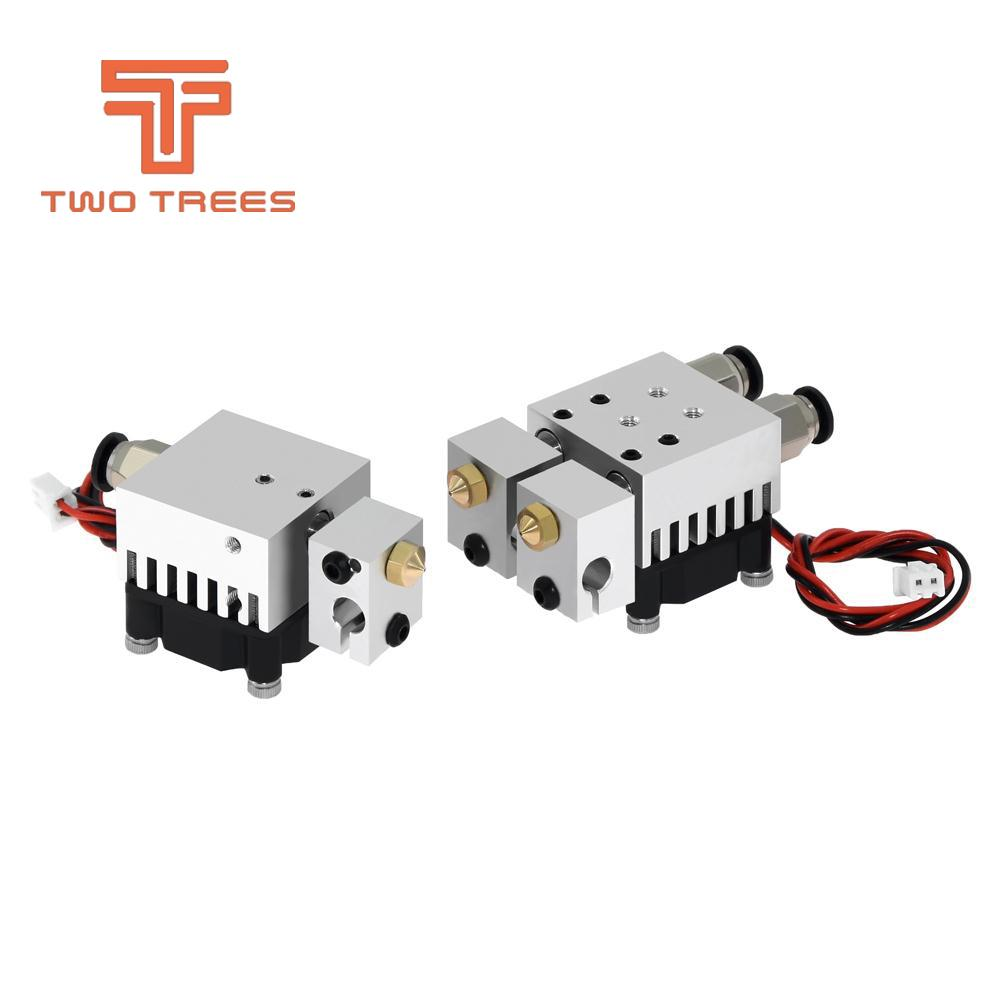 3D Chimera Hotend Kit  2 IN 2 OUT extruder Multi-extrusion All metal V6 Dual Single extruder 0.4mm1.75mm 3D printer parts