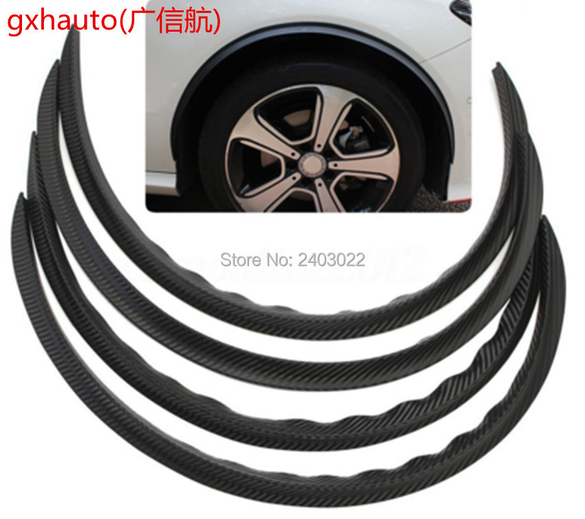4pcs 28.7''universal car truck wheel eyebrow carbon fiber arch flares protector trim lips fender 1 5m carbon fiber high strength wheel eyebrow arch decor strip car tires eyebrow for round rubber car protect sticke