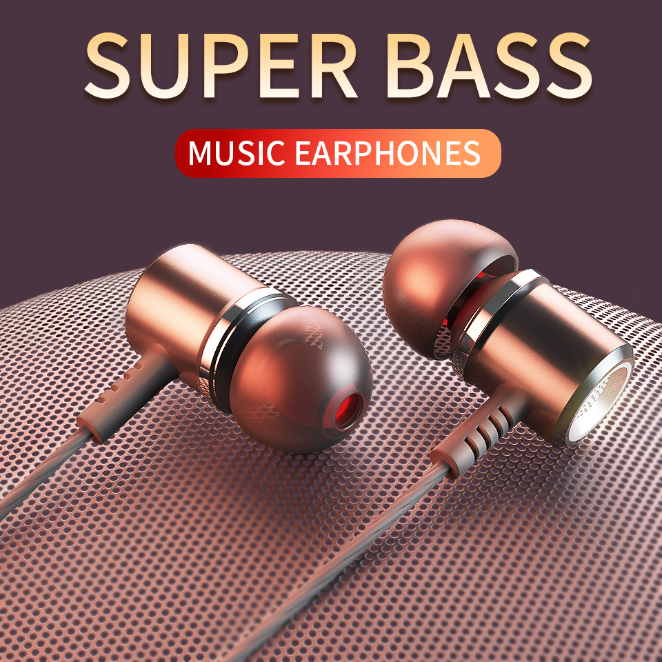 Langsdom M400 Headphones Earphones In Ear Sport Wired For Phone Xiaomi Super Bass Headsets With Mic Hifi Earbuds Fone De Ouvido