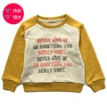 Spring new sweater sets of the Korean version of the boys and girls pure cotton terry letters printed sweater shirt  3-10T