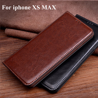 Genuine Leather flip Case 6.5 For iphone XS Max X Smax case back case cover iphoneXS Max For iphone xsmax case back cover Shell